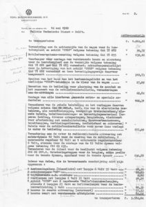 Algemene Verkeersdienst, Rijkspolitie, offerte eerste Porsche 356 cabrio, ED-54-29, Alex 4401 / Alex 2701.