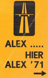 Algemene Verkeersdienst, Rijkspolitie, Alex '71, flyer, conferentie.