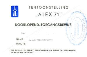 Algemene Verkeersdienst, Rijkspolitie, Alex '71.