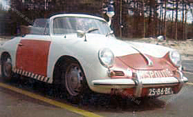 Sectie Bijzondere Verkeerstaken, Algemene Verkeersdienst, AVD, Rijkspolitie, Porsche 356, 25-86-BK