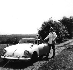 Sectie Bijzondere Verkeerstaken, Algemene Verkeersdienst, Rijkspolitie, Porsche 356, 25-87-BK, Alex 2734, Jan Waanders
