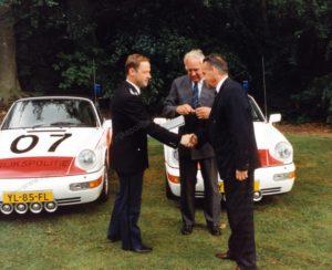 Algemene Verkeersdienst, Rijkspolitie, Porsche 911-964 targa, YL-85-FL, Alex 1207, Alex 1266, YL-83-FL, Alex 1208, Alex 1249, Cees Doornhein, Hans Blonk, Wittebrug, Leaseplan.