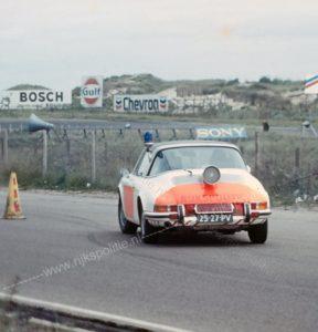 Algemene Verkeersdienst, Rijkspolitie, Porsche 911 targa, 25-27-PV, Alex 1293, Zandvoort, Nico Woltil.
