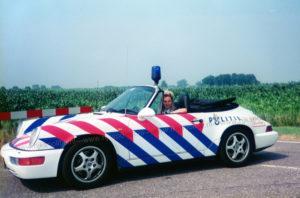 Algemene Verkeersdienst, Rijkspolitie, Porsche 911-964 Cabrio, Korps Landelijke Politiediensten, Ellen Veerhoek, GV-JV-06, Alex 1243, steunpunt Breda, politiemuseum