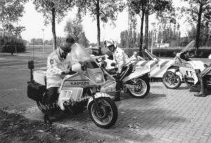 Algemene Verkeersdienst, Rijkspolitie, Groep Motorsurveillance (GMS), BMW K100RT, Rien Smits, Rob Amesz, Meester Kwel, John van den Brink, Martin van der Graaf.