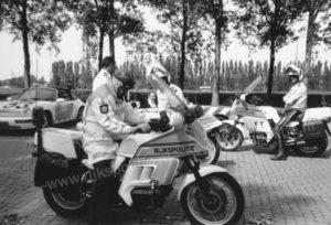 Algemene Verkeersdienst, Rijkspolitie, Groep Motorsurveillance (GMS), BMW K100RT, Rien Smits, Rob Amesz, John van den Brink, Martin van der Graaf.