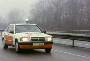 Algemene Verkeersdienst, Rijkspolitie, Mercedes 190, LV-33-DX, Alex 1266.