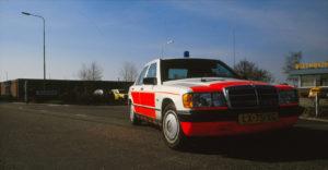 Algemene Verkeersdienst, Rijkspolitie, Mercedes 190, LX-75-XG, Alex 1248, Steunpunt Breda.