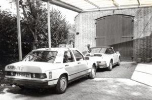 Algemene Verkeersdienst, Rijkspolitie, Mercedes 190, SR-04-ZT, Alex 1263, steunpunt Grathem.