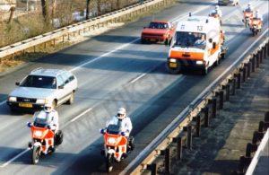 Algemene Verkeersdienst, Rijkspolitie, Groep Motor Surveillance (GMS), BMW K100RT, Renault Trafic, VG-92-LH.