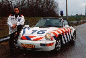 Algemene Verkeersdienst, Rijkspolitie korps landelijke politiediensten, Porsche 911-964 cabrio, GG-DP-48, Alex 1216, Bert Hartman