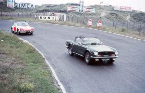 Algemene Verkeersdienst, Rijkspolitie, Porsche 911 targa, 25-29-PV, Alex 1295, Triumph TR6, 92-52-PK, Zandvoort.