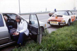 Algemene Verkeersdienst, Rijkspolitie, Porsche 911 targa, XL-80-PB, Henk Hogeveen.