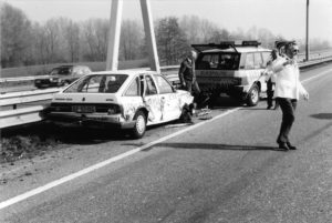 Algemene Verkeersdienst, Rijkspolitie, Groep Basis Surveillance, Range Rover, TV-54-GR, Henk Hadderingh, Jan Goedbloed, Jan van Kooten.