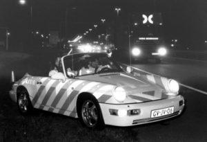 Algemene Verkeersdienst, Rijkspolitie, Groep Surveillance Autosnelwegen (SAS), Alex 1243, GV-JV-06, Dirk van Oord, Rob van Meerbeek, A16, Hazeldonk.