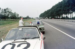Algemene Verkeersdienst, Rijkspolitie, Groep Surveillance Autosnelwegen (SAS), Alex 1202, 56-HL-59, Gerrit Zijlstra, Jan Otten, Theo de Wild.