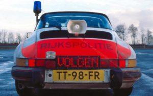 Algemene Verkeersdienst, Rijkspolitie, Groep Surveillance Autosnelwegen (SAS), Alex 1202, TT-98-FR, steunpunt Breda, VOLGEN.