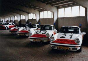 Algemene Verkeersdienst, Rijkspolitie, Porsche 911 targa, TT-99-FR, Alex 1204, Alex 1221, RT-08-FY, Alex 1203, TT-97-FR, Alex 1278, SR-16-ZL, gebouw G, autostalling.