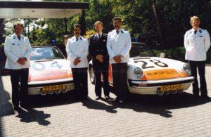 Algemene Verkeersdienst, Rijkspolitie, Porsche 911 targa, TT-99-FR, Alex 1204, Kees Doornhein, Jan Benou, Joop van Roest.