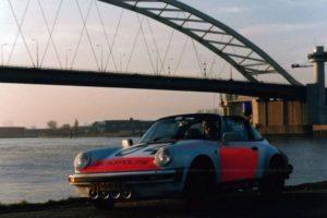 Algemene Verkeersdienst, Rijkspolitie, Porsche 911 targa, TT-99-FR, Alex 1204, Henk Hadderingh, van Brienenoordbrug