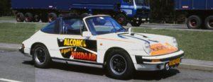 Algemene Verkeersdienst, Rijkspolitie, Porsche 911 targa, HJ-40-VK, Alex 1203, Veilig Verkeer Nederland campagne alcohol in het verkeer – al gauw een misdaad.