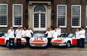 Algemene Verkeersdienst, Rijkspolitie, Porsche 911 targa, Alex 1228, TG-55-LD, Alex 1204, TT-99-FR, Alex 1203, TT-97-FR, stadhuis Driebergen.