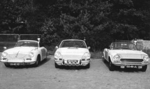 Sectie bijzondere verkeerstaken (SBV), Algemene Verkeersdienst, Rijkspolitie, Groep Surveillance Autosnelwegen (SAS), ER-40-50, Porsche 912 targa, 28-51-HK, Alex 1269, Fiat 124 Spider, 00-48-JL, Alex 1276.