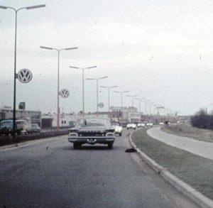 Algemene Verkeersdienst, Rijkspolitie, Sectie bijzondere verkeerstaken (SBV), Amsterdamseweg Amersfoort, Ford Fairlane.