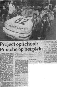 Algemene Verkeersdienst, Rijkspolitie, Stad Nijkerk, Porsche 911-964 targa, YX-57-PF, Alex 1282, Oranje-Nassauschool, Nico Woltil.