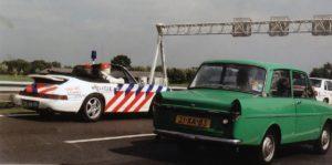 Algemene Verkeersdienst, Rijkspolitie, Groep Surveillance Autosnelwegen (SAS), Alex 1243, GV-JV-06, Cor van de Kuijt, Ton Dellebeke.