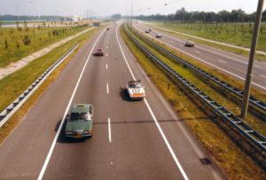 Algemene Verkeersdienst, Rijkspolitie, Groep Surveillance Autosnelwegen (SAS), Alex 1207, HJ-36-VK, Rob Snelleman, Gerard Dekker, Prins Clausplein.