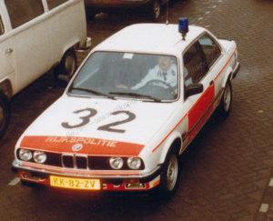 Algemene Verkeersdienst, Rijkspolitie, BMW 323i, Alex 1232, KK-82-ZV, Alex 1232, Politie Technische Dienst Delft, Anton Versteeg.
