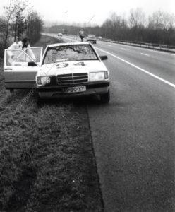 Algemene Verkeersdienst, Rijkspolitie, Mercedes 190, PJ-30-XY, Alex 1294, Bob ter Haar.