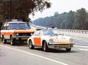 Algemene Verkeersdienst, Rijkspolitie, Groep Surveillance Autosnelwegen (SAS), Alex 1253, 43-SM-44, Range Rover, 83-SJ-23.