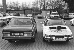 Algemene Verkeersdienst, Rijkspolitie, Groep Surveillance Autosnelwegen (SAS), Alex 1253, 43-SM-44, Alfetta 2000, 31-TH-20.