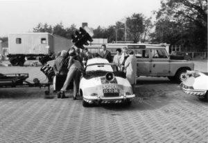 Sectie bijzondere verkeerstaken, Algemene Verkeersdienst, Rijkspolitie, Groep Surveillance Autosnelwegen (SAS), 25-92-BK, 95-06-BA, Land Rover, Porsche 912 targa.