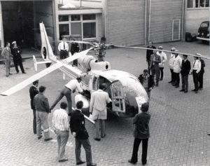 Algemene Verkeersdienst, Rijkspolitie, Westland Gazelle helikopter.